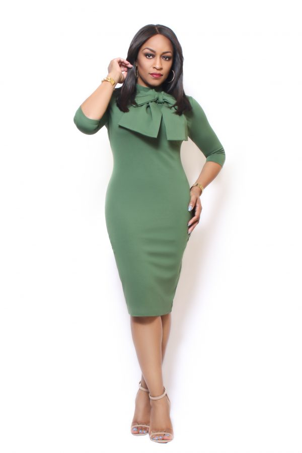 Jackie Bow Green Dress