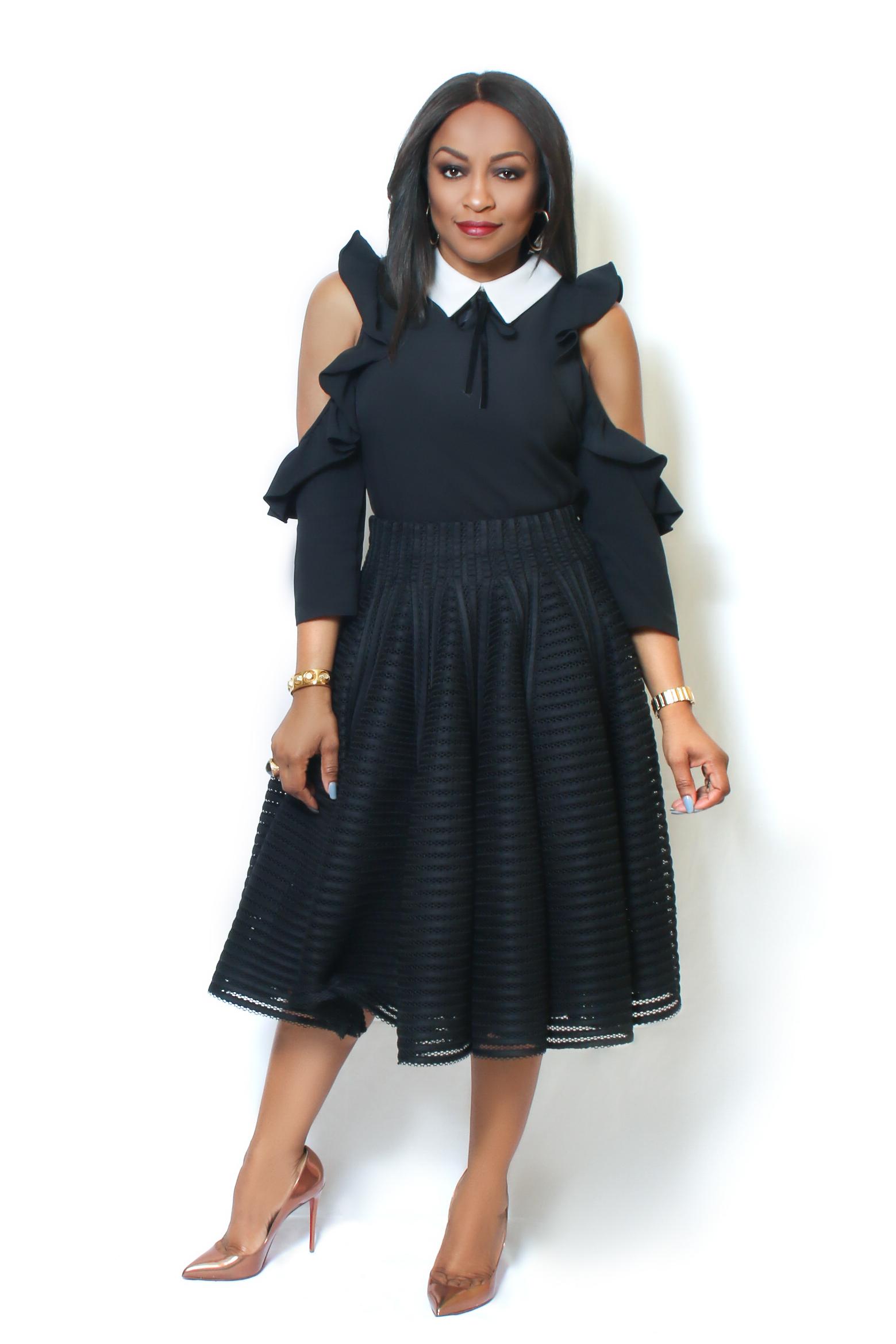 Marilyn Black Skirt by Style Selfie is a full skirt